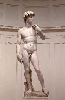 David von Michelangelo in der Galeria Accademica in Florenz
